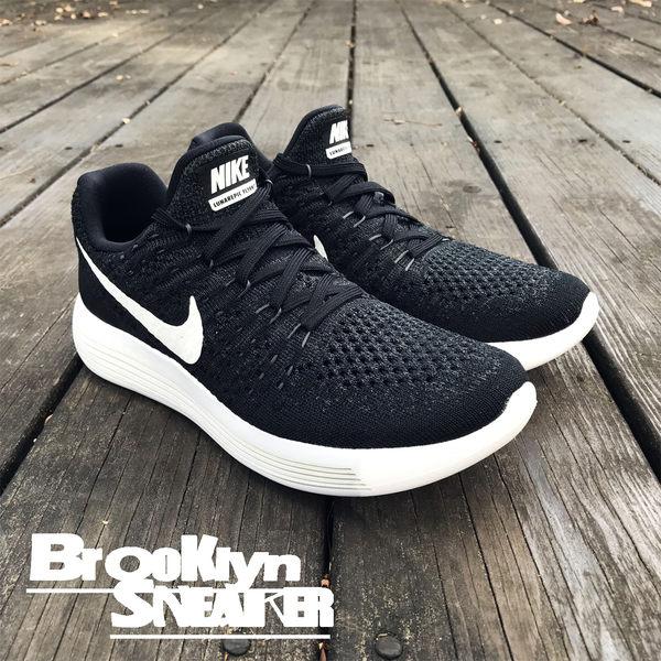 五折Nike LunarEpic Low Flyknit 2 編織 慢跑 輕量 黑白 女 (布魯克林) 2018/7月 863780-001