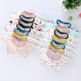 棉感360度旋轉星星口水巾 圍兜兜 嬰兒用品