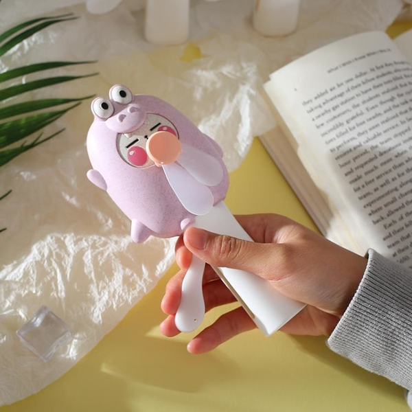 創意卡通迷你手握手壓小風扇學生兒童網紅便攜式隨身