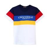 『小鱷魚童裝』亮眼條紋LOGOT恤(08號~18號)557403