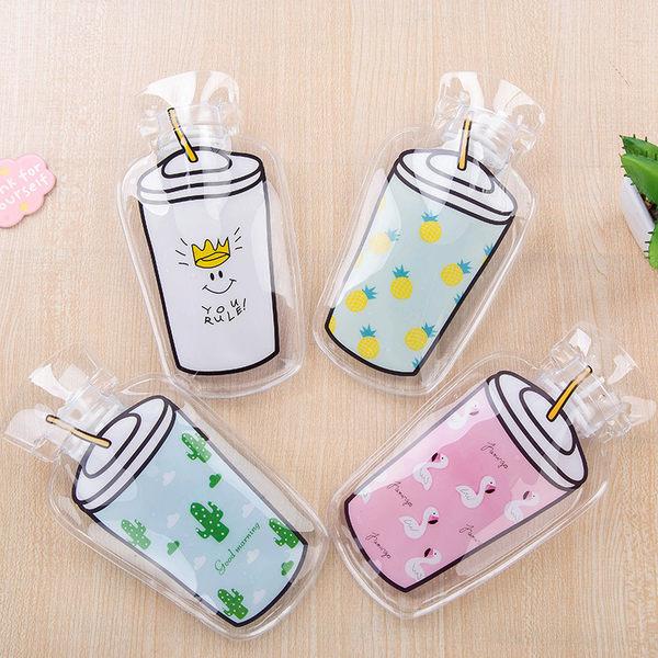 【03178】 飲料杯造型 注水式熱水袋 冰溫兩用 熱敷 冰敷 冬天 暖手 保溫