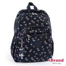 【i Brand】趣味派對尼龍口袋後背包-小碎花 TGT-1318-23