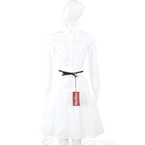 STRENESSE 白色襯衫式長袖洋裝(不含腰帶) 0510080-20