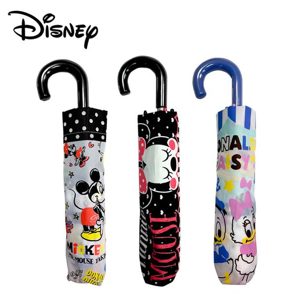 【日本正版】迪士尼 輕量型 晴雨傘 附傘套 摺疊傘 雨傘 折傘 米奇 米妮 唐老鴨 059869 059876 059890