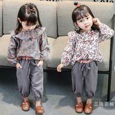 女寶寶秋裝套裝0一1-2-3歲韓版潮洋氣公主童裝兩件套小孩套裝女