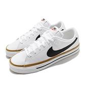 Nike 休閒鞋 Court Legacy 白 黑 咖啡色 膠底 小白鞋 男鞋 基本款【ACS】 CU4150-102