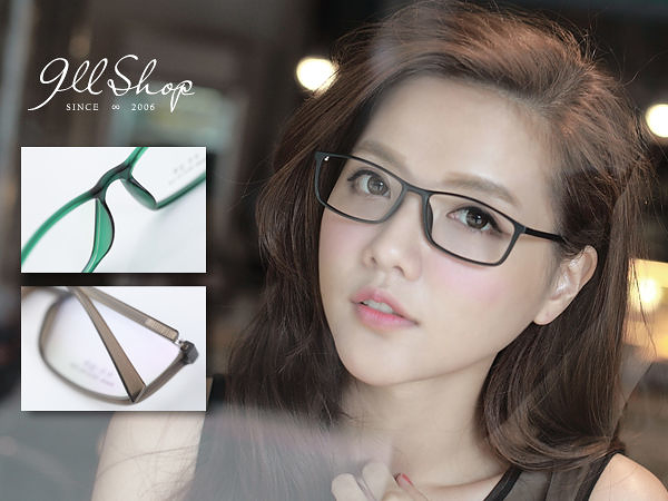 Cheer.超輕TR90塑膠鈦極細小方框光學配鏡框眼鏡【p621】*911 SHOP*