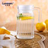 交換禮物-冷水壺冷水壺玻璃壺耐熱家用透明涼水壺果汁壺四方條子雪柜樽0.5L