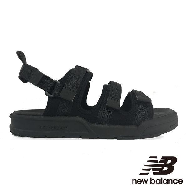 網路限定-【New Balance】 涼拖鞋 SD3205BBW-D  中性 黑