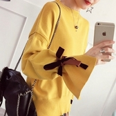 針織衫-半高領韓版時尚熱銷喇叭袖女毛衣4色73tp15【巴黎精品】