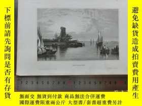二手書博民逛書店【罕見】19世紀 銅 鋼版畫 單幅 ANTWERPEN ( 20
