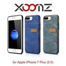 【默肯國際】XOOMZ 袖珍系列 iPhone 7/ 7 PLUS 牛仔插卡 手機保護套 丹寧皮套 手機殼 全包覆 包膜