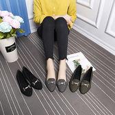 娃娃鞋包鞋韓版時尚個性金屬鍊裝飾方跟鞋尖頭鞋娃娃鞋包鞋【02S6209】
