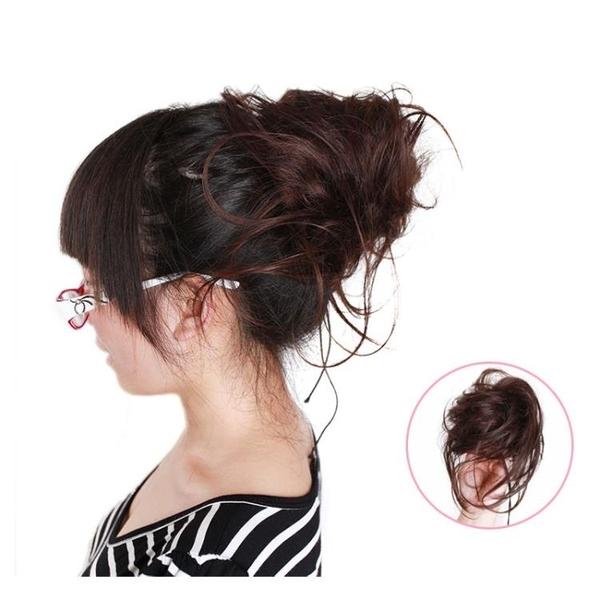 髮包 蓬松章魚髮包丸子頭古裝頭飾花苞頭新娘卷髮包凌亂感盤髮假髮髮圈-快速出貨