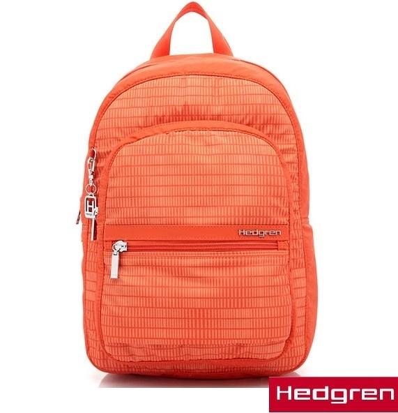 Backbager 背包族【比利時Hedgren】HIC -Inner City 都會系列-後背包(銀橘條紋)