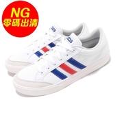 【US10-NG出清】adidas 休閒鞋 VS Set 左腳鞋面發黃 白 藍 紅 小白鞋 男鞋 運動鞋【PUMP306】