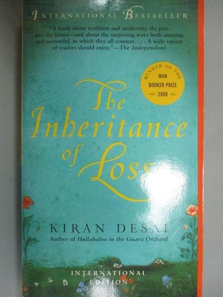 【書寶二手書T4/原文小說_ODI】The Inheritance of Loss_DESAI, KIRAN