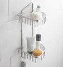 衛浴 浴室 轉角專用 雙層置物網籃 30...