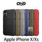 【妃凡】QinD Apple iPhone X/Xs 戰術護盾保護套 邊緣全包 減震抗摔 (K)