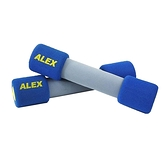 ALEX 韻律無套啞鈴-4LB-藍(健身 有氧 重量訓練≡排汗專家≡