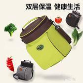 野餐袋精耐特圓桶形手提加厚牛津布保溫袋圓形鋁箔飯盒便當包午餐保冷暖 qz3616【野之旅】