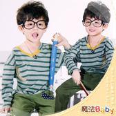 韓版橫條紋雙拉鍊款長Tee 魔法Baby