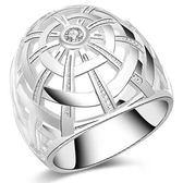 925純銀戒指 鑲鑽-獨特時尚生日母親節禮物女配件73aq32[巴黎精品]