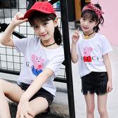童裝女童2018夏裝新款中大童夏季印花豬純棉短袖T恤上衣5 12 13歲-大小姐韓風館