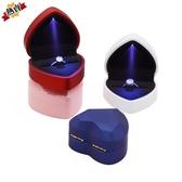 戒指盒 創意戒指盒 高檔婚禮求婚首飾盒鉆戒盒對戒盒子項鏈盒子禮物盒 【八二折下殺】