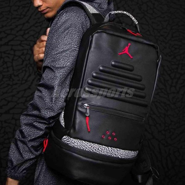 d2a65028bf4f Nike 後背包Air Jordan Retro 3 Pack 爆裂紋黑水泥喬丹3代男女款 ...