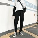 工裝褲 cargo工裝褲女新款春秋法式高腰顯瘦寬鬆bf束腳休閒褲直筒