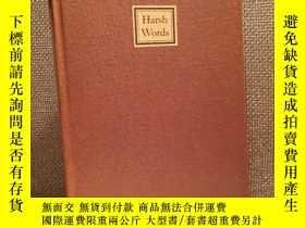 二手書博民逛書店Harsh罕見Words(T.M.克萊蘭《逆耳之言》,僅限量20