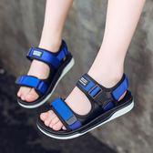 全館超增點大放送男童涼鞋2018夏季新款兒童童鞋真皮韓版潮中大童學生男孩沙灘鞋子