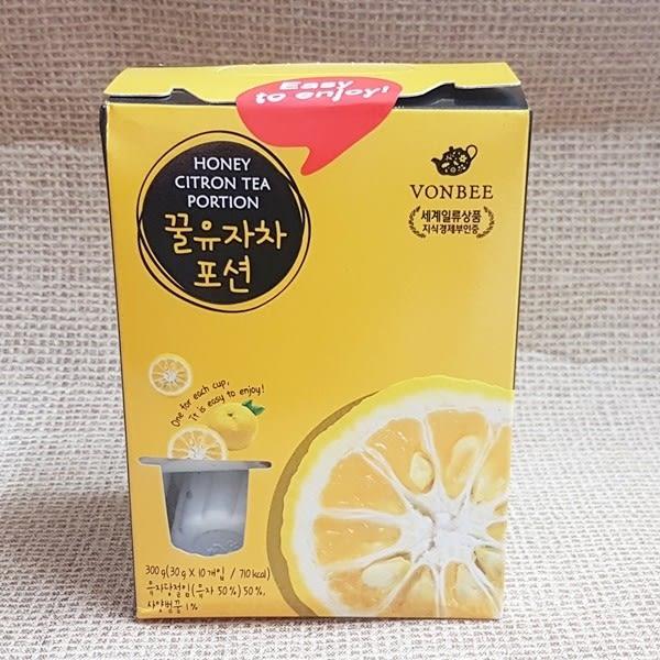 (韓國) VONBEE 柚子茶球禮盒 1盒300公克(10入)【8803217015285】