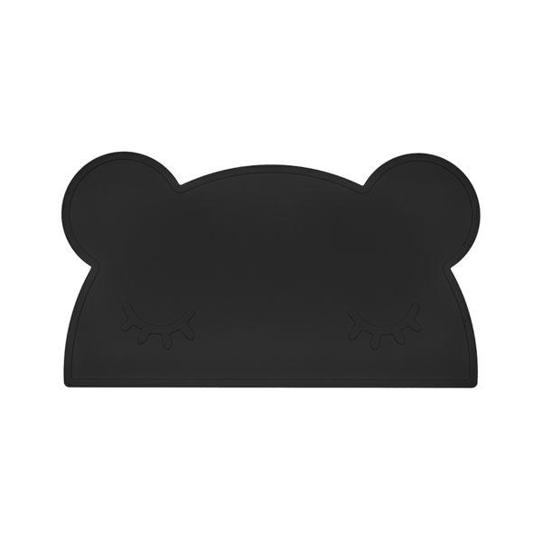 澳洲We Might Be Tiny 矽膠防滑餐墊熊寶寶-時尚黑