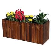 碳化木花箱戶外防腐木種植箱特大長方形實木花槽陽臺木質種菜花盆 蜜拉貝爾