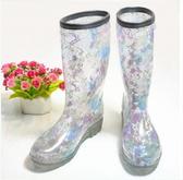 中筒雨靴-自信防水率性防滑女雨鞋2色5s80【時尚巴黎】