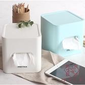 簡約抽紙盒卷紙盒客廳家用桌面卷筒紙盒可愛紙巾盒【櫻田川島】