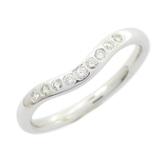 Tiffany & Co 蒂芬妮 PT950 V型鑲鑽柏金戒指 【BRAND OFF】
