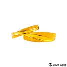 Jove Gold漾金飾 細水長流黃金成對戒指