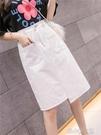 牛仔半身裙子女年春款一步裙新款不規則a字裙高腰顯瘦中 洛小仙女鞋