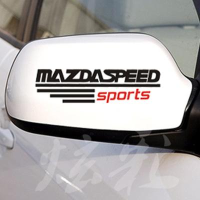 MAZDA 後視鏡貼紙 馬3 馬6 馬5 CX-3 CX-5 CX-7 CX-9 Isamu 沂軒精品 A0508