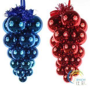 聖誕樹精美掛件 葡萄串光球