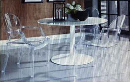 【南洋風休閒傢俱】造型休閒椅系列 –大魔鬼椅+ 90cmFRP桌 塑料餐桌椅組   (537-9)
