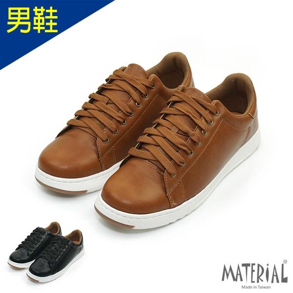 男鞋 皮感綁帶休閒鞋 MA女鞋 T26650男