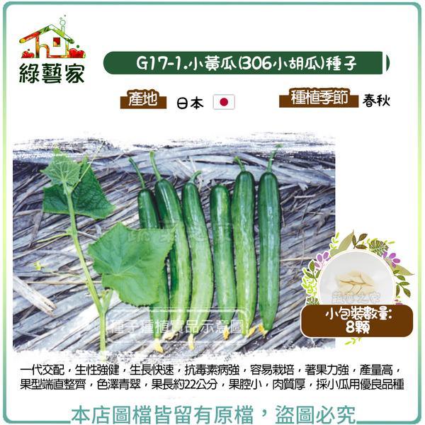 【綠藝家】G17-1.小黃瓜(306小胡瓜)種子8顆