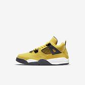 Nike Jordan 4 Retro PS [BQ7669-700] 大童 籃球鞋 運動 休閒 復古 閃電 AJ4 黃