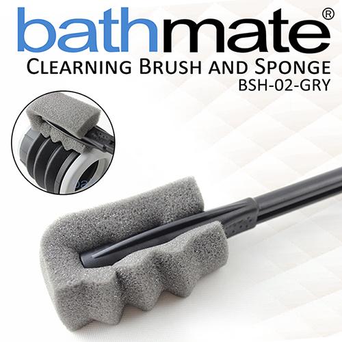 【公司貨】英國BATHMATE CLEARNING BRUSH AND SPONGE 水幫浦專用清潔刷 BSH-02-GRY