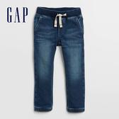 Gap嬰兒 基本款鬆緊牛仔束口牛仔褲 358880-中度水洗