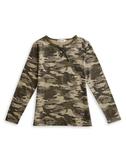 BOBSON 女款迷彩紋長袖上衣(34077-42)